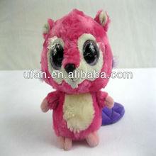 Lovely 8 inch big eyes stuffed toy squirrel