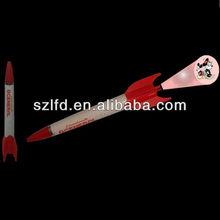 custom LED logo Projection Pen in Rocket Shape