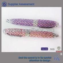 Promotional elegant crystal studded pen with glaring diamond