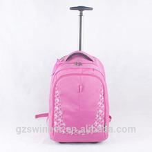 2015 Top Quality Cute Large Capacity Kids School Trolley Bag Hot Sale