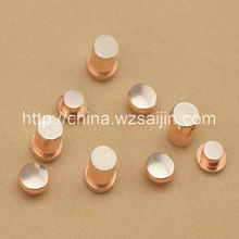 Electrical Silver Alloy Contact Button Rivets for relay