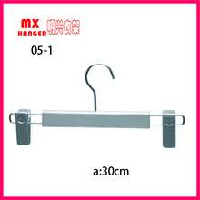 rubber coated white pant hanger, pant hangers,plastic pant hangers