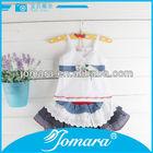 Fashion design little girl wear short skirts,girls dress set,child clothes