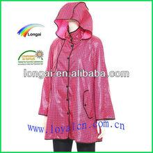 100% waterproof pvc fashion rain coat