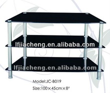 Hot sale simple design tempered glass tv wall units