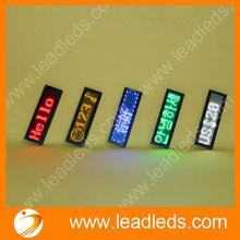 Highest brightness rgb led display 12X48 dot matrix support any languages