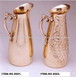 Brass water jug, drinking water jug, metal water jug, antique water jug, decorative water jug