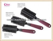2015 best selling soft boar bristle hair brush can custom logo