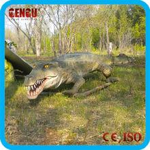 Outdoor vivid fiberglass alligator for sale