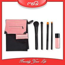 MSQ 4pcs Pretty travel size makeup brush kit + gift brush set