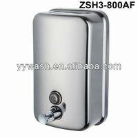 Manual stainless steel soap dispenser
