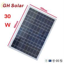 New Polystalline 30W Solar Energy PV Solar Panel Price