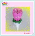Fantaisie fleur de chrysanthème bougie gâteau d'anniversaire avec musique et feu d'artifice