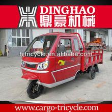 Gas cargo tricycle/full cabin three wheeler/three wheel truck
