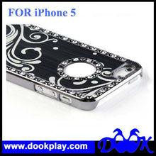 Aluminum Chrome Hard Diamond Case For iPhone 5 With Logo Hole