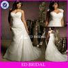 Plus Size Sweetheart Detachable Belore Embellishment Appliqued Court Train Lace Wedding Dress