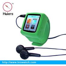 mp4 watch driver, silicone slap mp4 player wrist watch with FM radio