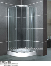 Save space popular tempered clear polished shower enclosures bathroom