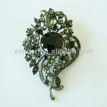 Metal rhinestone flower wholesale vintage brooches