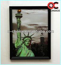 Caliente venta del hogar decorativo 3d pintura del arte estatua de la libertad de imagen en 3d