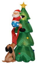 Air blown inflatables christmas and halloween santa and christmas tree