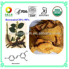 Natural phyto pharmaceutical ingredient, Bulk Resveratrol 20%,50%,98%