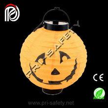 "Happy Jack O' Lantern Pumpkin Paper Shade Lantern - 16"" Dia."