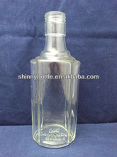 8 oz wine clear glass bottle ,customized glass wine bottle, glass vodka bottle