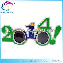 Hot Sell 2014 Brazil Football Fans Sunglasses 2014 New Year Glasses