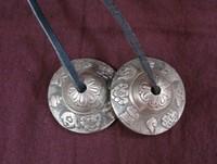 Handmade Bronze Tingshas Tibetan Nepal