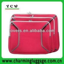 pink color neoprene cheaper fashion girls laptop bag