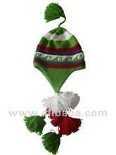 PERUVIAN ALPACA CLOTHING - ANDEAN CHULLO HAT - INCA HAT