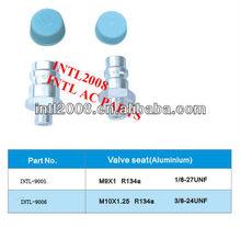 R134a Auto air conditioner Aluminum valve seat hose fittings