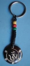 Tibetan Yak Bone OM Key Chain Handmade Nepal