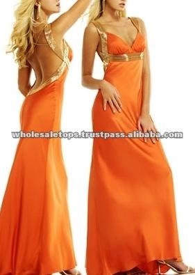Evening Maxi Dress on Ll008 Orange Backless Maxi Formal Dress View Formal Dress Mercurisa