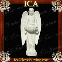 Natural white marble famous art angels