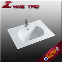 Engineering artificial stone small hand washing sink round hand ceramic cabinet basin white in stock