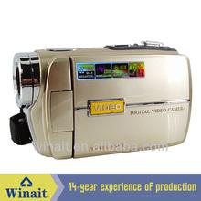 HD 720P Digital video camcorder camera with 16 Mega Pixels and 16x digital zoom