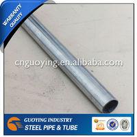SS400 Pre galvanized mild steel pipe/tube