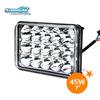 New product heavy duty vehicle led work lights 4x6 45w led headlight tractor light