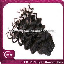 China 2013 mejor 5a productos de calidad superior 100% cabello virgen brasileño rizo italia