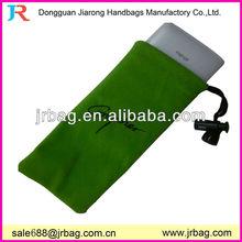Green new designed luxury velvet phone pouches