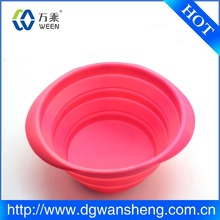 Pet Dog Foldable Feeding Bowl Portable Silicone Camping Water Food Travel Bowl