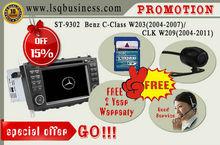 LSQ Star multimedia car audio Mercedes C Class W203 with GPS navi,BT,CANBUS SWC,Original menu,2year warranty.