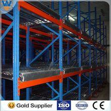CE certificate powder coated rack storage vegetables ,heavy duty gravity rack, powder coated metal free standing coat racks