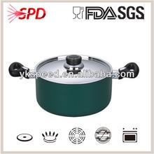 High quality SGS FDA eco microwave Nonstick healthy aluminum technique casserole easy cookware