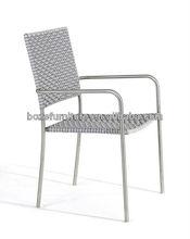 Outdoor garden furniture stainless steel armrest rattan chair-BZ-CN001
