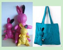 Lovely Rabbit Foldable Shopping Bag