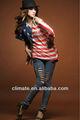 Americana ee.uu. bandera de la nueva moda T - camisa de la mujer señora de las señoras de la muchacha de Sexy T - camisa de la camiseta de la falda del vestido