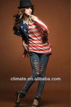 American USA Flag New Fashion T-shirt Women's Lady's Ladies' Girl's Sexy T-shirt T Shirt Skirt Dress.